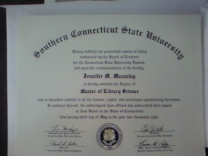My diploma from SCSU